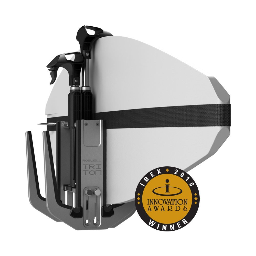 Roswell Marine Triton Vertical Strapless Board Rack Wake Surf Wakeboard IBEX Innovation Award Winner 2016