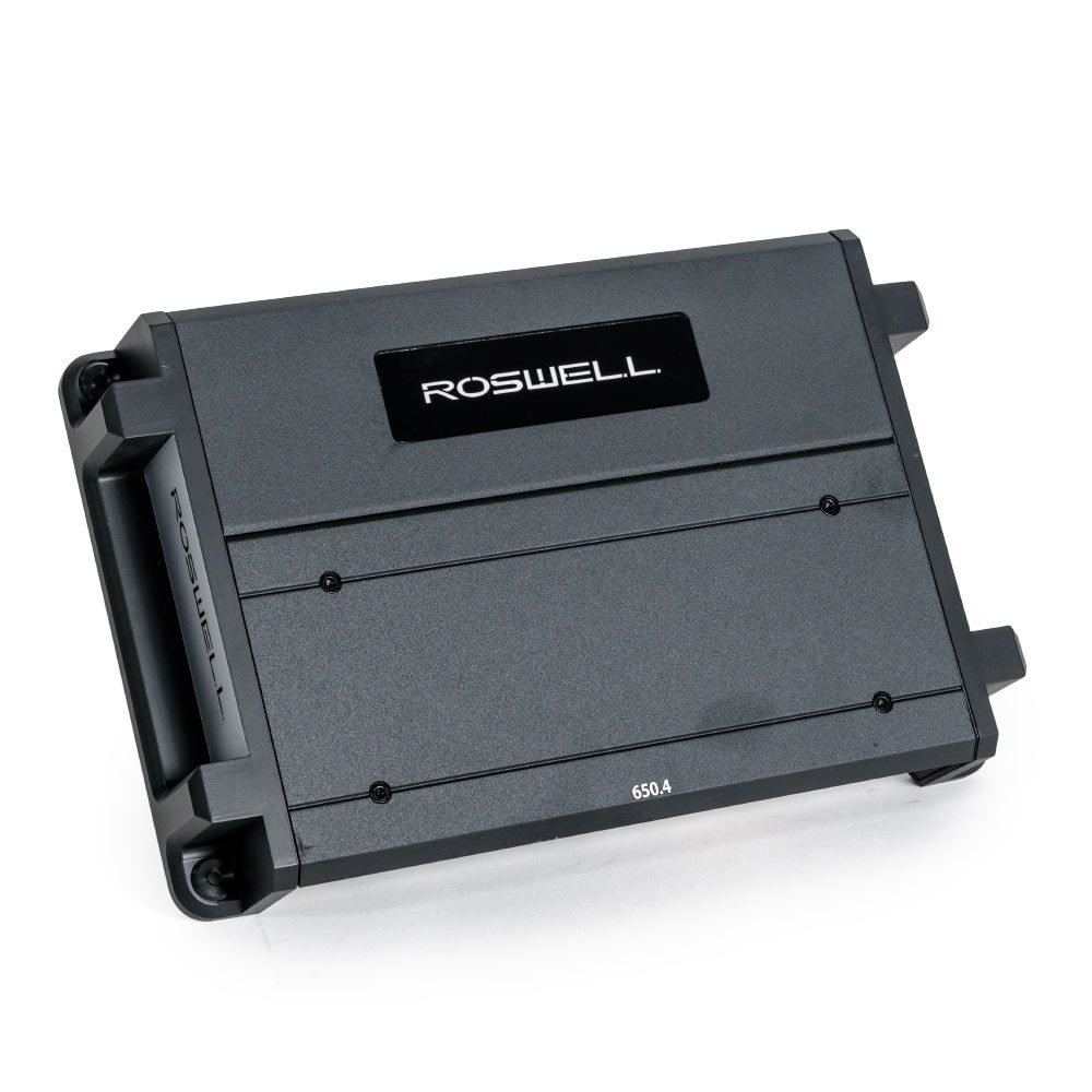 Roswell Marine Audio Class-D Marine Bridgeable 4-Channel Amplifier
