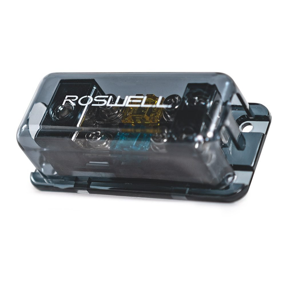 Roswell Marine Audio distribution block 1 in 2 out fused