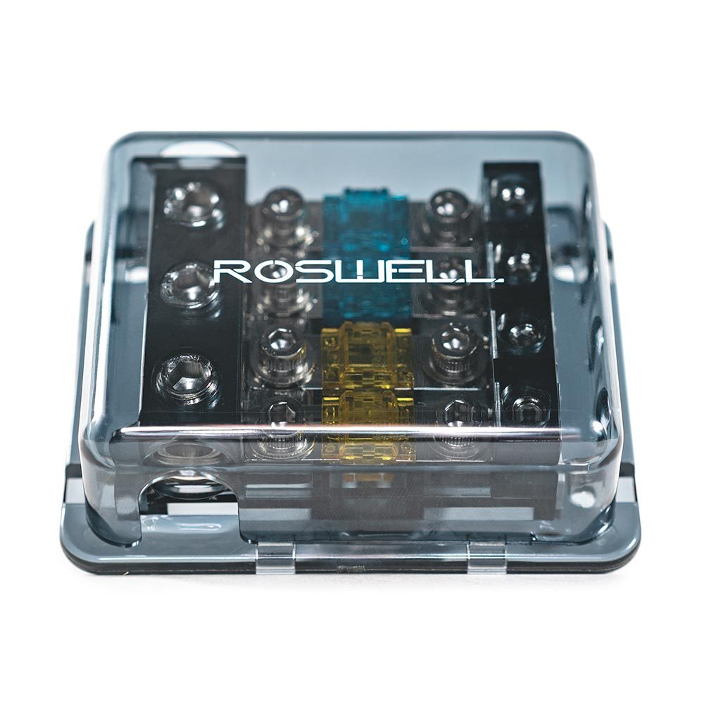 Roswell Marine Audio distribution block 1 in 4 out fused