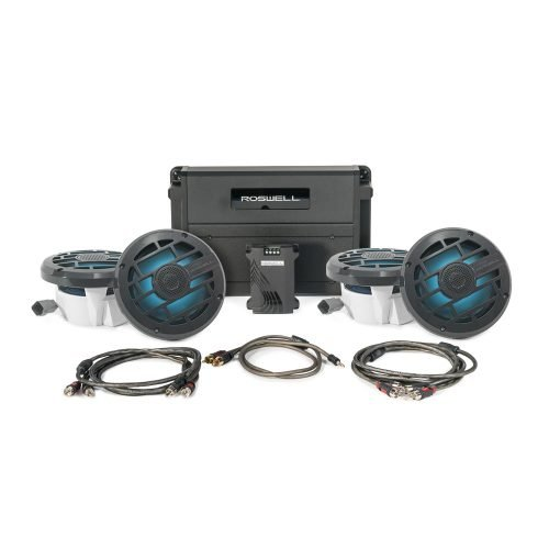 Roswell Marine Audio R 6.5 Inch In-Boat Audio Speaker Package